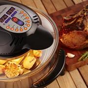 Andrew-James-12L-Digitaler-Premium-Halogenofen-in-Schwarz-mit-Klappdeckel-Leicht-austauschbarer-Ersatzhalogenbirne-2-Jahre-Garantie-Komplett-mit-Erweiterungsring-bis-zu-17L-Zange-Kuchen-Reisform-Toast-0-0