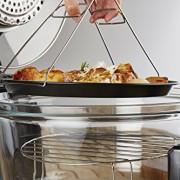 Andrew-James-12L-Digitaler-Premium-Halogenofen-in-Schwarz-mit-Klappdeckel-Leicht-austauschbarer-Ersatzhalogenbirne-2-Jahre-Garantie-Komplett-mit-Erweiterungsring-bis-zu-17L-Zange-Kuchen-Reisform-Toast-0-1