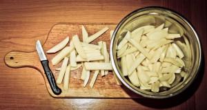 Heißluftfritteuse Test mit Pommes